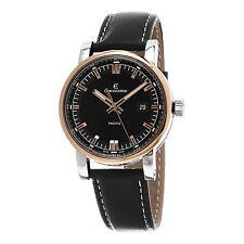 Chronoswiss Men's GrandPacific Black Dial Leather Strap Watch CH-2882-BR-BK2