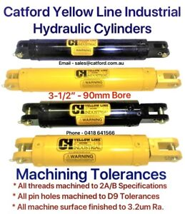 Catford-Yellow-Line-Hydraulic-Clevis-Cylinder-Ram-3-1-2-034-Bore