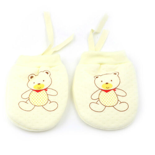 Cute Baby Infant Boys Girls Anti scratching Mittens Soft Newborn Rope Gloves