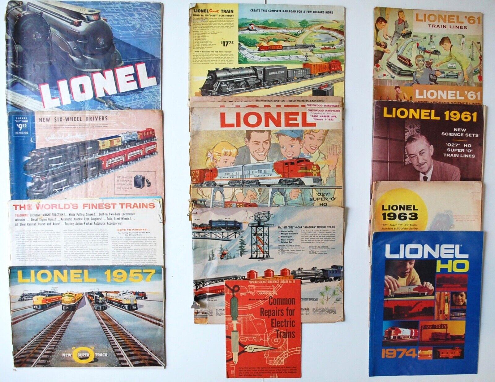 Vintage Lionel Model Train Catalogs 1936 1937 1950s 1960s Common Repairs Book
