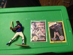 Jerome Walton Chicago Cubs 1990 Starting Lineup LOOSE MLB SLU Figure w/ cards