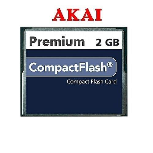 AKAI MPC1000 MPC 1000 CF 2GB 2 GIG Compact Flash Card Memory Huge Soundlibrary