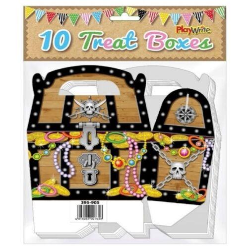 20 X Piraten Schatztruhe Party Behandeln Kuchen Essen Boxen