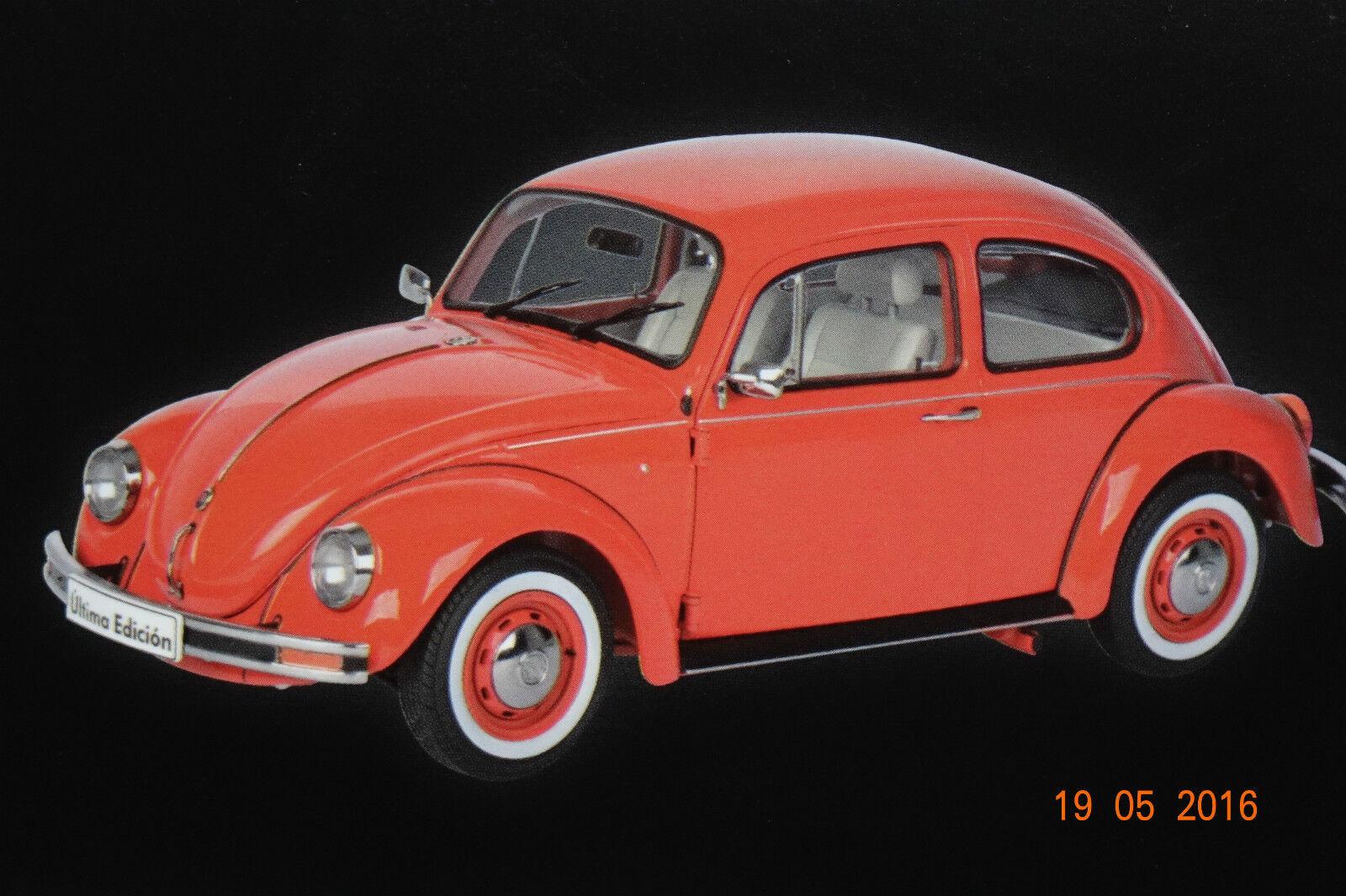 VW Maggiolino 1600i 2003 ROSSO 1:18 Schuco NUOVO & OVP 292