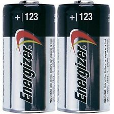 2 ENERGIZER CR123A CR123 CR 123 123A LITHIUM BATTERY - EXP 2027