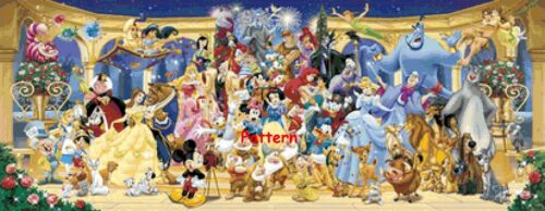Counted Cross Stitch Pattern Paper version or PDF files. Disney Heroes #7