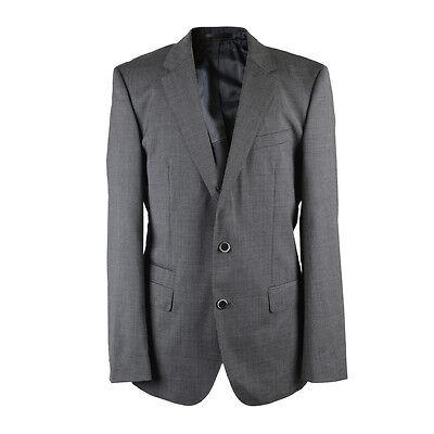 Hugo Boss Super 100 Wool Gray Striped Three Button Suit US 40R EU 50R