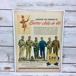 Vintage-1945-1946-Lee-Denim-Overalls-Original-Print-Ad-Better-Jobs-in-46