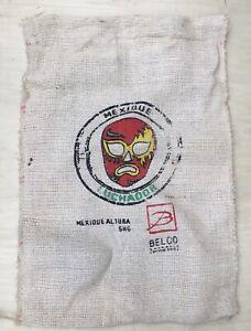 """SAC CAFE """" DON PEPE MEXIQUE """" EN TOILE DE JUTE / COFFEE BAG / 107 x 75  cm TTBE"""