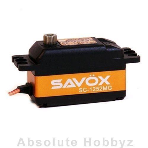 Savox bajo perfil Super Speed Metal Gear Servo Digital-sav-sc-1252mg