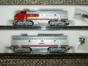 KATO-N-Scale-Santa-Fe-Warbonnet-F7-A-B-Loco-2-car-set-106-0404-NOS-NIB