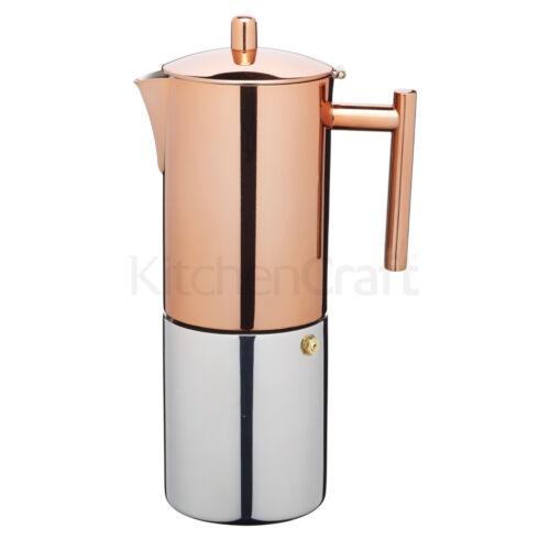 Kitchencraft LExpress du Acier Inoxydable Cuivre Effet 600 ml Espresso Coffee Maker