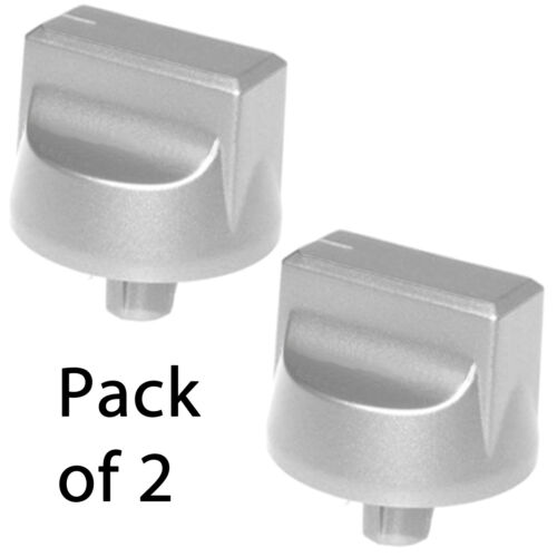 STOVES Genuine Oven Cooker Hob Control Switch Knob Silver 444447283 Spare x 2