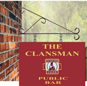 cobertizo pub Signo de Barra Colgante Personalizado 30 X 20 Personalizado Clansman Cueva de hombre