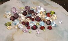 Lot 50 carats de pierres fines naturelles taillées Vrac Topaze Grenat citrine...