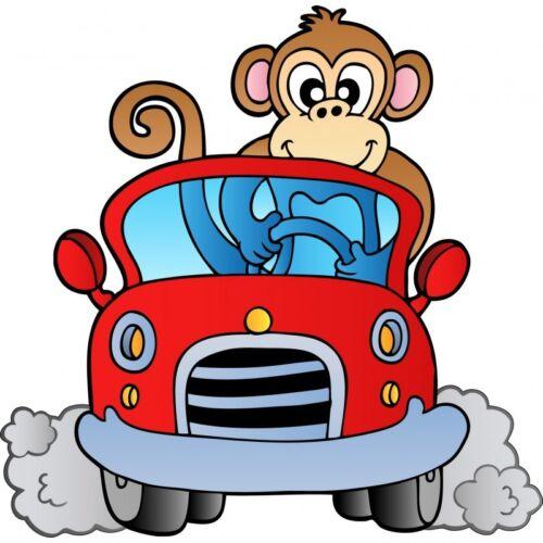 Car sticker baby monkey