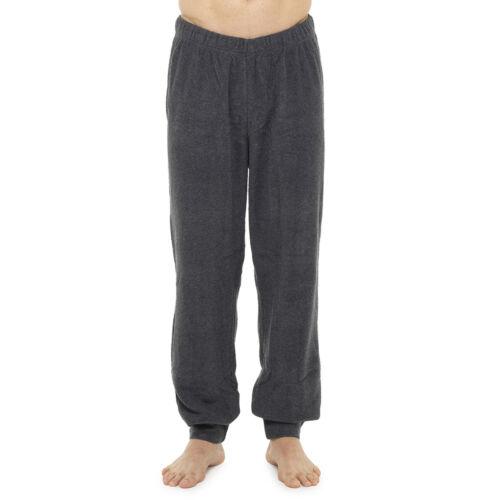 Hommes Garçons Gents Simple Gris Noir Polaire Pyjama Lounge Pantalon Pantalon M-XXL