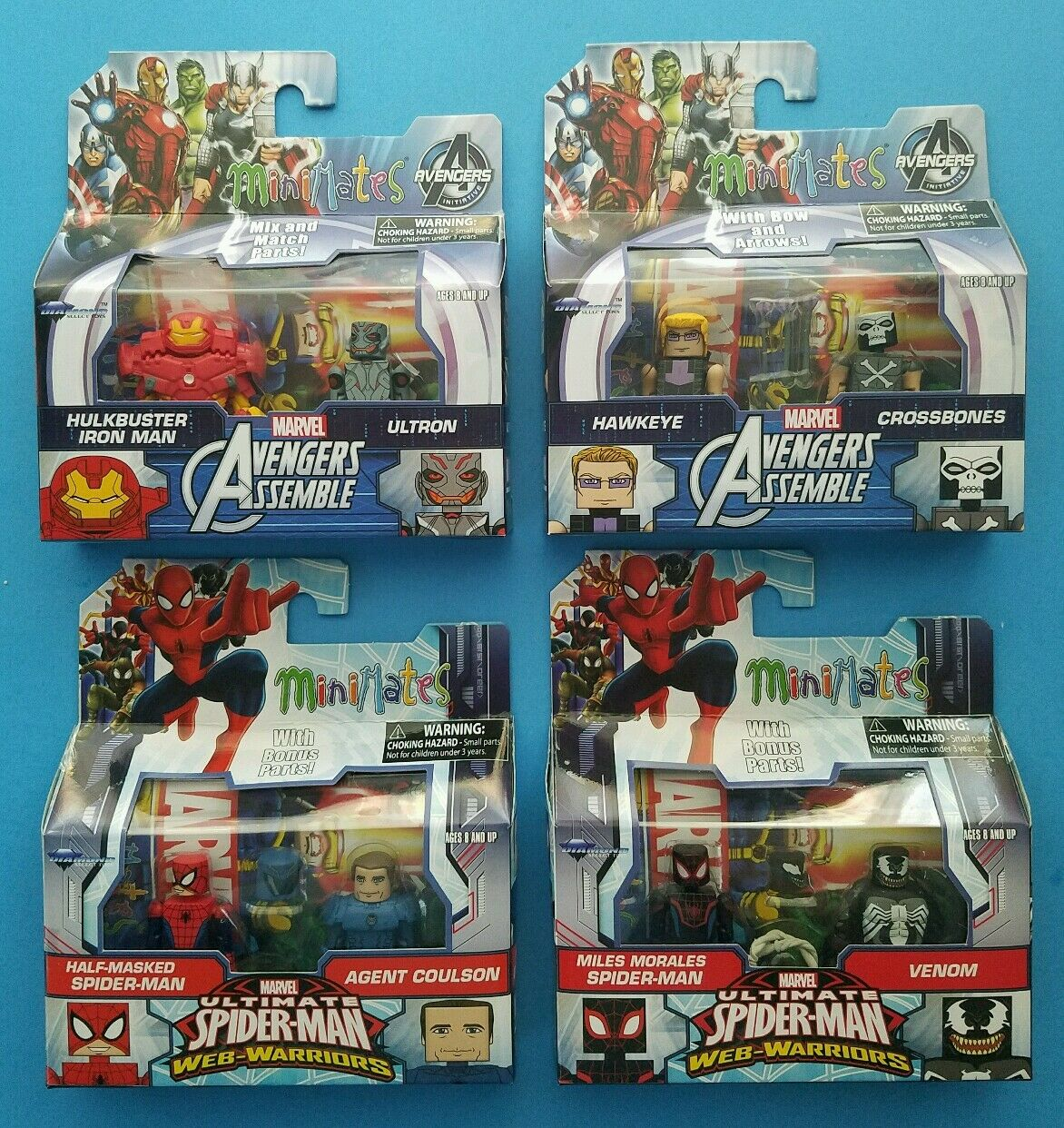 Marvel minimates walGrüns winken 1,5 figure set  iron man  hawkeye  spider - man  gift