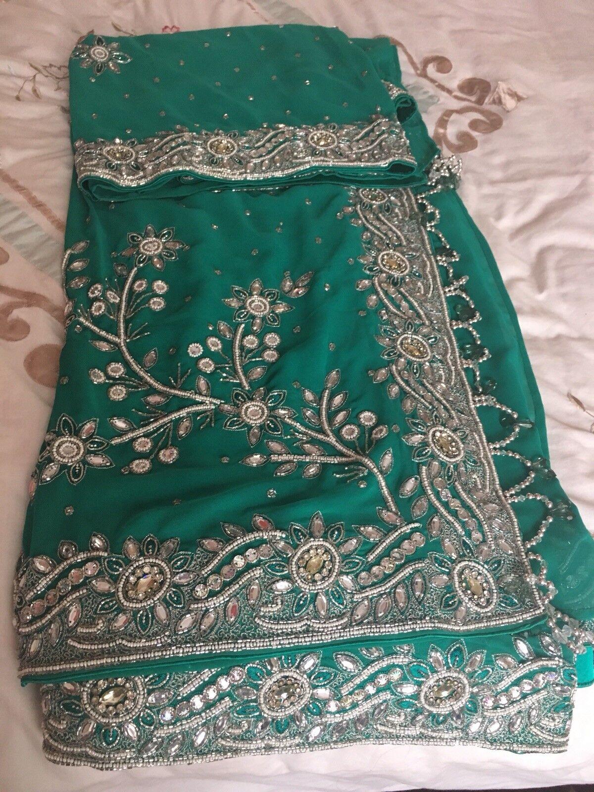Indian bollywood party Wear designer Wedding saree sari new