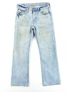 VINTAGE American Eagle Low Rise Boot Cut 31x32 Blue Jeans Classic Button Fly Wow