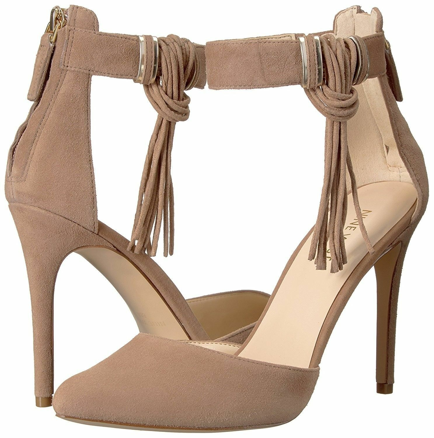 Nine Everafter West Everafter Nine 7 Natural Beige Nude Suede Leather Party Pumps Stilettos NEW 3e68c9