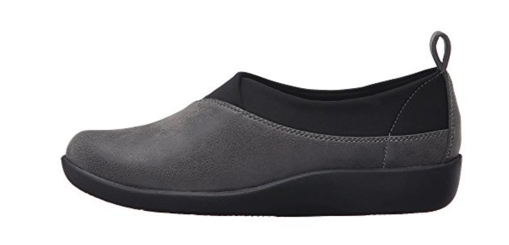 NEW CLARKS CLOUDSTEPPERS GRAY SILLIAN GREER SLIP ON LOAFER Schuhe Damenschuhe 7