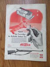 1949 Western Xpert 22 Long Rifle Ammunition Ad   Winchester Model 75