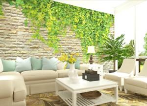 3D Green Plants Wall 8 Wall Paper Murals Wall Print Wall Wallpaper Mural AU Kyra