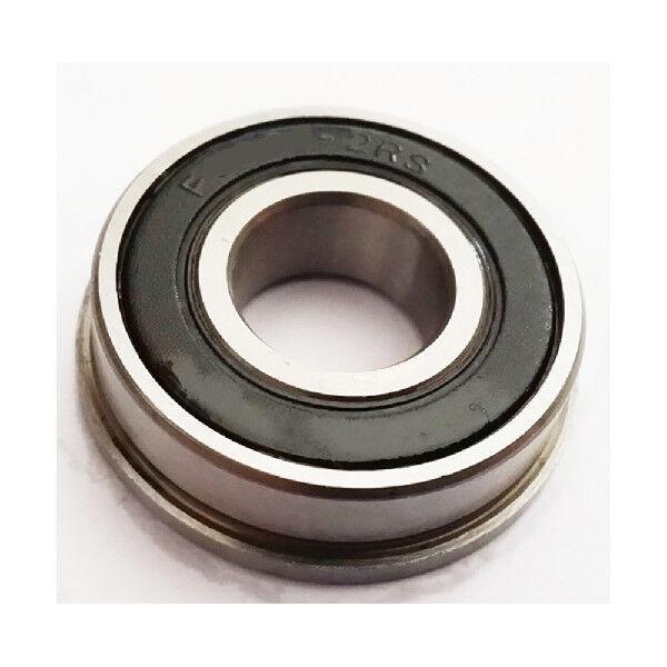 Metal Flanged Rubber Sealed Ball Bearing 6x13x5 mm 10 PCS Black F686-2RS