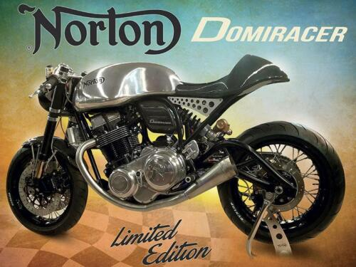 Norton Domiracer metal advertising wall sign 200 x 150 mm