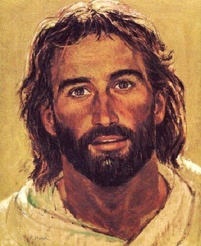 Richard Hook HEAD OF CHRIST 20x16 Paper Art Print Surfer Jesus Smiling Portrait