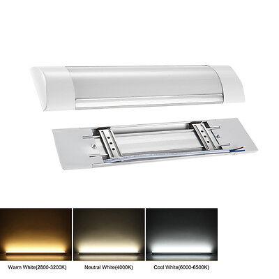 LED Batten Tube Linear Light Lamp Slim Ceiling Surface Warm/Neutral White UK
