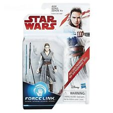 "Hasbro 2018 Star Wars 3.75"" Action Figure Force Link Rey Jedi Training C1504"
