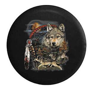 Dream Catcher Campers Dream Catcher Wild Wolves in the Moonlight Jeep RV Camper Spare 37