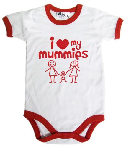 "Lgbt Bébé Body /"" I Love My Momies /"" Grenouillère Bébé Gay Pride Mamans Cadeau"