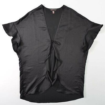 Victorias Secret Sexy Nightie Black Satin Kimono Robe 36007061 One Size Fine Craftsmanship Sleepwear & Robes