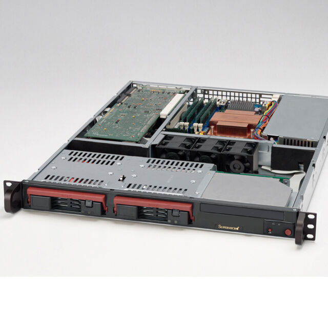 "1HE Server 19"" CSE-811T • Opteron 165 Dual 1.80 GHz • 2GB RAM • 2 x 200GB HDD"