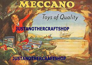 Dinky-Meccano-1953-A3-Tamano-Grande-cartel-anuncio-de-tienda-pantalla-signo-FOLLETO-ILUSTRACIONES