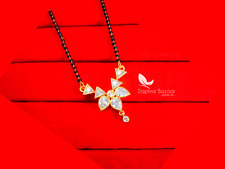 ME30, Daphne Flora Golden Zircon Studded Mangalsutra, Featuring Bollywood Sin...