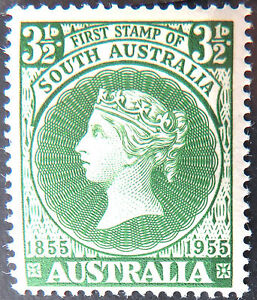 1955-Australian-Pre-Decimal-Stamps-Cent-1st-South-Aust-Postage-Stamp-Single-MNH