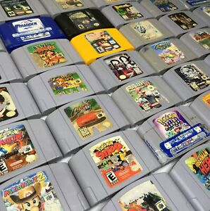 Nintendo 64 N64 Video Game Cartridges *Cosmetic Wear* *Authentic/Cleaned/Tested*