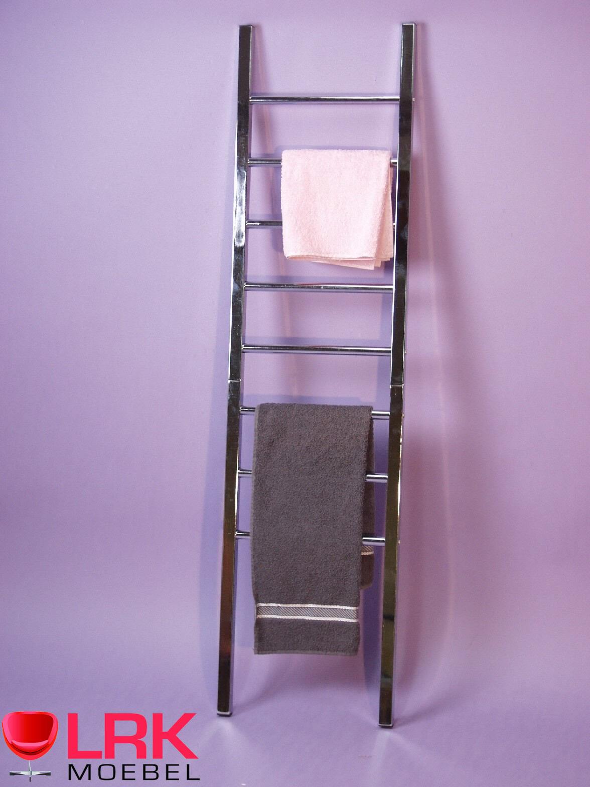 3800 Handtuchhalter im schönem Design mit 8 Sprossen zum Anlehnen an die Wand | Helle Farben