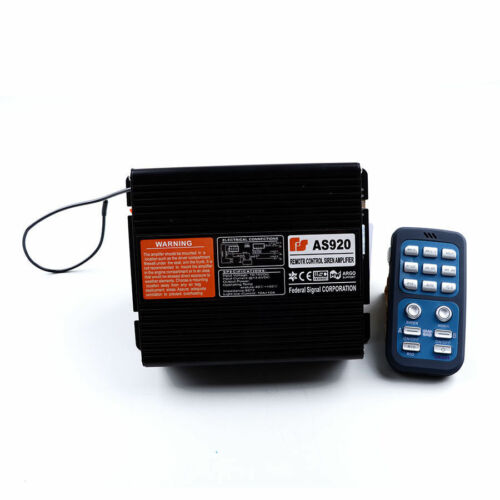 200W Car Warning Alarm Police Fire Siren Horn Speaker PA System Control Host New