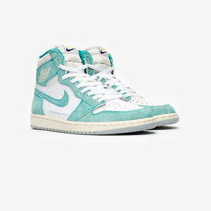 86fb96a0014 NIKE AIR JORDAN 1 RETRO HIGH OG 555088-311 TURBO GREEN SAIL WHITE ...