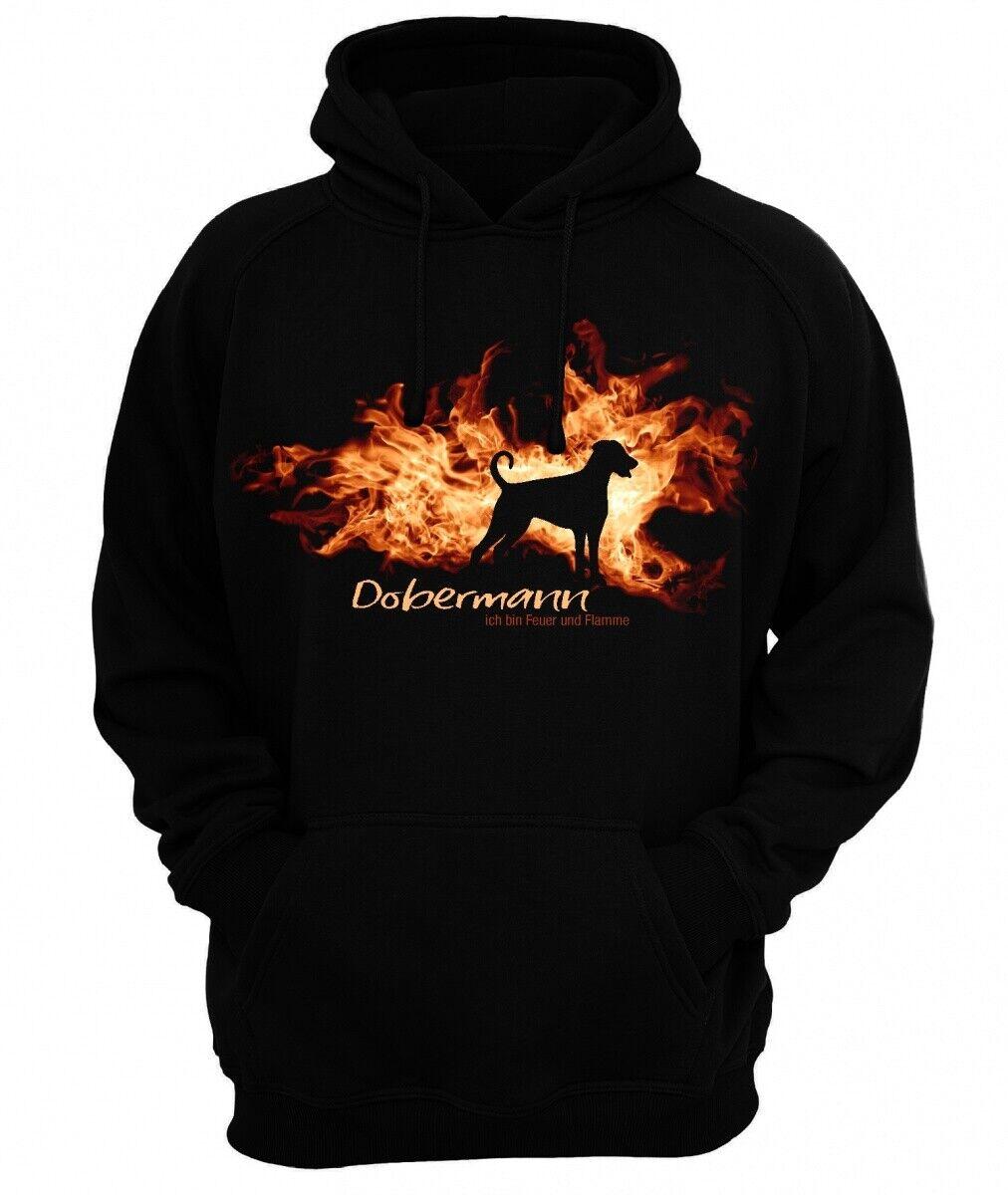 Sweatshirt DOBERMANN UNKUPIERT FEUER UND FLAMME by Siviwonder Hoodie