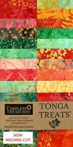 Timeless-Treasures-Watermelon-Tonga-Treats-Jr-Jelly-Roll-20-Batik-2-5-034-Strips