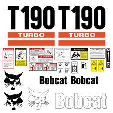 Bobcat T190 Turbo Skid Steer Set Vinyl Decal Sticker 25 Pc Free Shipping