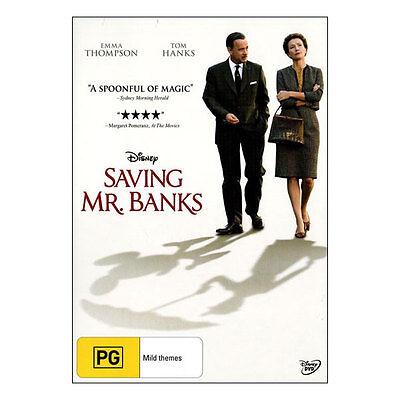 Saving Mr. Banks DVD Brand New Region 4 Aust. -  Emma Thompson, Tom Hanks