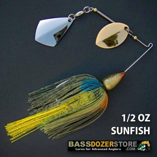 Bassdozer spinnerbaits ROYAL OKLAHOMA 1/2 oz N. SUNFISH spinnerbait spinner bait