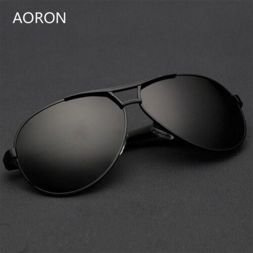 Retro Men/'s HD Polarized Sunglasses Pilot Metal Outdoor Driving Eyewear Glasses